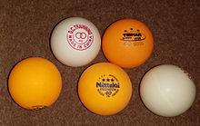 40mm table tennis balls
