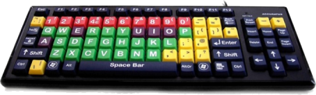 Accuratus Monster 2 – Mixed Colour Upper Case Childrens Keyboard with Large Keys