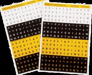 Alphabet or Keyboard Stickers