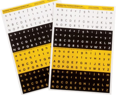 Alphabet or Keyboard Stickers