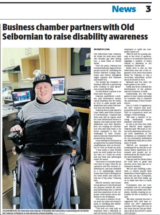 Business Chamber Partners with Old Selbornian to raise Disability Awareness