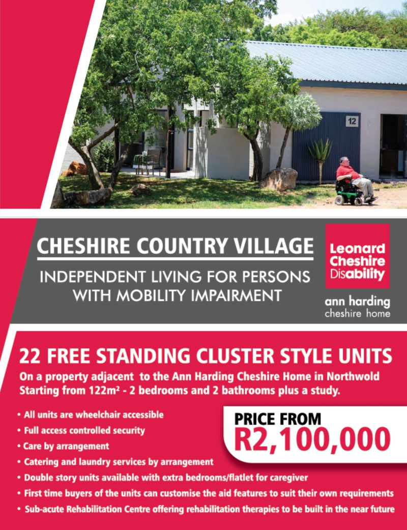Cheshire Homes Indepedent Living for persons with mobility impairments