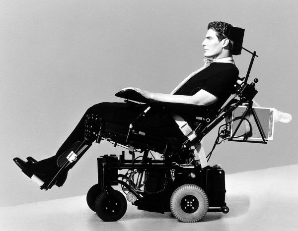 Christopher Reeve ( Paralysed from the neck down following a horse riding accident)