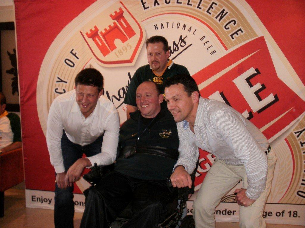 Colin Beard, Bob Skinstad, Alan Downey & Andre Vos - Fundraising Event