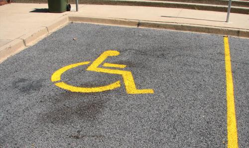 disabled parking place