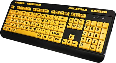 EasyTouch Large Print Multimedia Keyboard