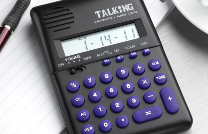 Talking Handheld Calculators