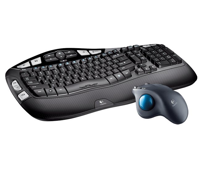 keyboard & rollerball mouse
