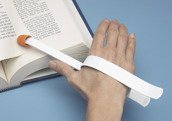 hand strapped page turner