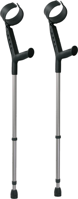 Pair of Forearm Crutches With Closed Cuff