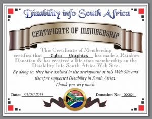Rrainbow Donation Certificate