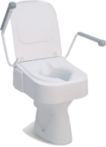 Raised Toilet Seat Height Adjustable with Arms