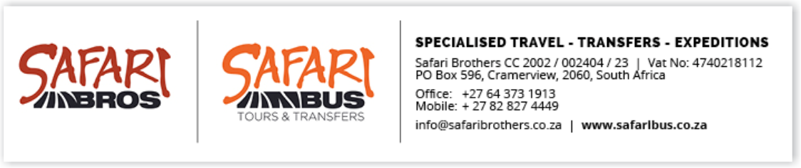 Safari Bus Banner