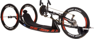 The Invacare Top End Force RX Handcycle