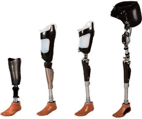 types of leg prosthesis
